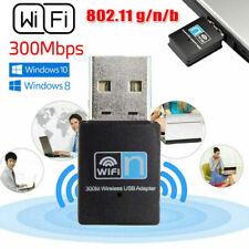 Mini Usb 300Mbps Wifi Wireless Adapters Pc Laptop For Windows Dongle 802.11n/g/b