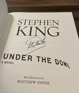 Under The Dome Stephen King Signed First Edition