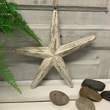 Hanging Wood Starfish Shabby Chic Nautical Bathroom Accessory Driftwood Seaside