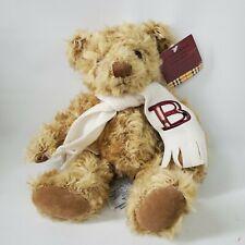"""Burberry Fragrances Teddy Bear Monogram Scarf Letter B Longhair 11"""" NWT"""