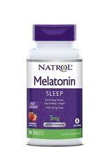 Suplemento Dietario De Melatonina 5 Mg Sabor Fresa Sueño Reparador Natrol