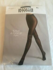 Wolford Velvet de Luxe 50 in XLarge in Black UK 18-20 perfect condition