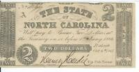North Carolina $2 1861 issued VF Cr13 #4566 Plate A Obsolete