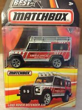 2016 Best of Matchbox LAND ROVER DEFENDER 110 Real Rubber Tires NIP 1:64 DieC
