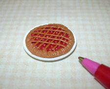 Miniature Nice Cherry Pie Lattice Crust for DOLLHOUSE Miniatures 1/12 Scale
