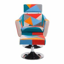 Multi-color Patchwork Modern Leisure Fabric Accent Chair Living Room Furniture