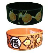 Dragon Ball Z PVC Wristbands 😍😍😍 - Lot of 2 Dbz Dragonball Goku AUTHENTIC NEW