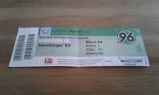 Ticket Hannover 96 - Hamburger SV, Sammlerticket, Ultras,  HSV