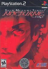 Shin Megami Tensei: Nocturne [PlayStation 2 PS2 JRPG Atlus Anime Persona] NEW