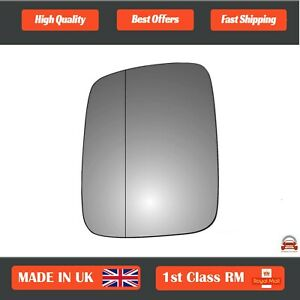 Left Side Stick On Wide Angle Wing Mirror Glass VW Transporter T4 90-2003 48LAS