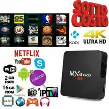 TV BOX ANDROID IPTV 4K FULL HD 1080P 2GB 16GB RAM SMART DECODER WIFI MXQ PRO