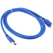 Blue USB 3.0 PC Power Charger Data Cable/Cord for WD My Passport WDBACX0010BBK