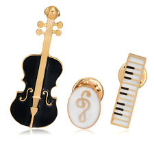 3pcs violin music note Electronic organ Jeans Collar Pin Enamel Brooch Pin Gift