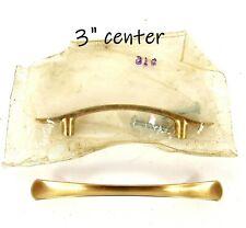 "PAIR 1950s Vintage Copper Pulls Deadstock Mid Century 3"" Center"
