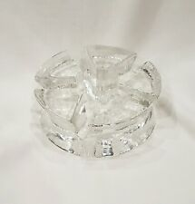 Clear Glass Teapot or Dish Warmer Base Holder with Votive