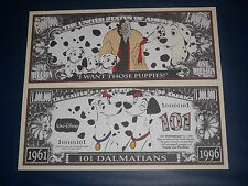 BEAUTIFUL  UNC. NOVELTY NOTE DISNEY'S 101 DALMATIANS FREE NOTE OFFER!
