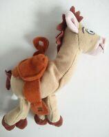 "DISNEY PIXAR TOY STORY BULLSEYE BEANIE HORSE 5.5"" TALL LAID FLAT SOFT TOY PLUSH"