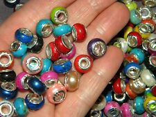 NEW Special VALUE 100/pcs 11mm MIXED Acrylic charm, spacer European Beads LOT