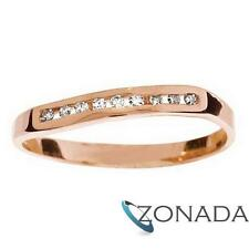Diamond Wave 9k 9ct Solid Rose Gold Ring Size P 7.75 R23521