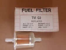 TVI G3 fuel filter replaces A.C. GF-61P fram CG-14 motorcraft FG-8 puro; F-20118