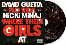 DAVID GUETTA FLO RIDA NICKI MINAJ WHERE THEM GIRLS AT RARE EU CDS IN CARD PS
