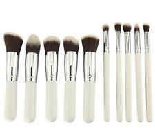 10PCS Kabuki Make Up Brush Face Powder Brush Foundation Blusher White Set  kit