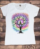 Women's T-Shirt Inhale Om Exhale Buddha Yoga Meditation Tree Zen-Print TS1761