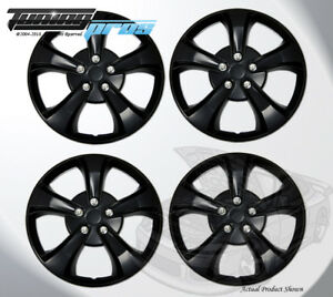 """17"""" Inch Snap On Matte Black Hubcap Wheel Cover Rim Covers 4pc, 17 Inches #616"""