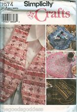 Simplicity 7074 Betsy Mazziotti Crafts vest placemat pillow sewing pattern purse