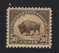 1923 AMERICAN BUFFALO BISON  Sc 569 MNH CV $50 A