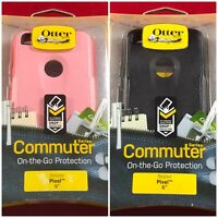 "NEW Google Pixel 1 Regular 5"" OEM Authentic OtterBox Commuter Case Black/Pink"