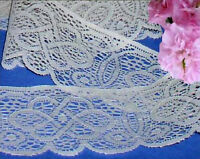 """Beige Lace Trim 5 Yds x 3-1/2"""" CLOSEOUT Vintage C07V Buy any 3 Trims Get 1-FREE"""