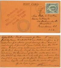 Nov 1943 Tonga WWII Tin Can Mail pc from Quensell to Crocker
