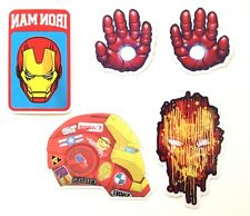 Iron Man Marvel Avenger Comics Car Skateboard Laptop Luggage Decal Stickers Set