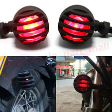 2x Motorcycle Red New Turn Signal Tail Brake Indicator Integrated Light Red