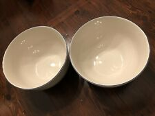 Tienshan Country Crock Stoneware Blue Stripe Large Mixing Bowl 10""