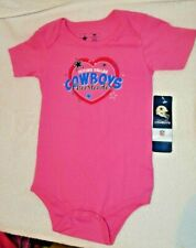"""Dallas Cowboys Girls infant 24 Months One Piece Pink """"Cheerleader"""" New with Tags"""