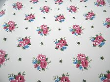 Pink Floral Wallpaper Pink Blue Flowers Double Roll Imperial floral Wall Lot 8