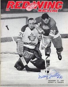 1968 Autographed Detroit Red Wings Program v Toronto + Full Ticket: Mint!