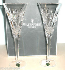 Waterford Crystal Crookhaven Champagne Flute Pair Made in Ireland NEW