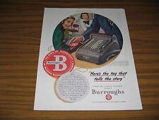 1948 Print Ad Burroughs Electric Duplex Calculator Adding Machine Detroit,MI