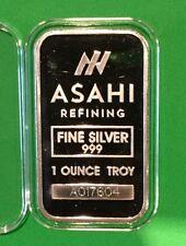Asahi Collectible Rare Bar 1 Troy Oz .999 Fine Silver Ingot Medal Precious Metal