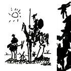 """35W""""x45H"""" DON QUIXOTE by PABLO PICASSO - 1955 STYLIZED BLACK INK MUSEUM CANVAS"""