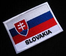 SLOVAKIA SLOVAK SLOVENSKO NATIONAL FLAG Sew on Patch Free Postage