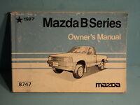 87 1987 Mazda B Series owners manual