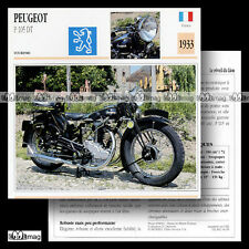 #004.19 PEUGEOT 350 P105 DT 1933 Fiche Moto Classic Bike Motorcycle Card