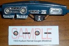 1952 - 1953 HUDSON HORNET GAUGE FACES for 1/25 scale MOEBIUS KITS