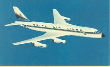 AIRPLANE, DELTA CONVAIR 880 JETLINER POSTCARD (JL444)