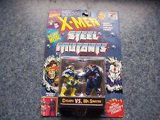 X-Men Steel Mutants Cyclops Vs. Mr. Sinister Toy Biz Poseable Action Figures New