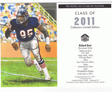 2011 Richard Dent goal line art card Chicago Bears